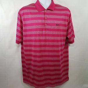 Nike Golf Pink Dri Fit Mens Golf Polo Shirt